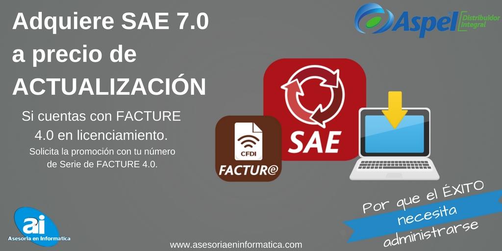 SAE 7.0 A PRECIO DE ACTUALIZACIÓN